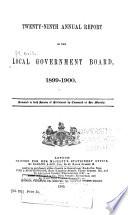 Annual Report of the Local Government Board