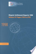 Dispute Settlement Reports 1998 Volume 6 Pages 2199 2752