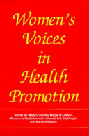 Women s Voices in Health Promotion Book