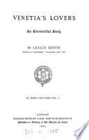Venetia s lovers  by Leslie Keith Book PDF