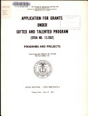 Applications for Grants Under Gifted and Talented Program  CFDA No  13 562