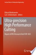 Ultra precision High Performance Cutting Book