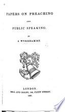 Papers On Preaching And Public Speaking Book PDF