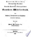 Spanisch-Deutsches u. Deutsch-spanisches-portugies. Taschen-Wörterbuch