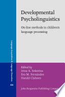 Developmental Psycholinguistics