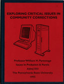 Exploring Critical Issues In Community Corrections