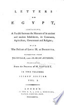 Letters On Egypt