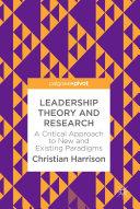 Leadership Theory and Research Pdf/ePub eBook