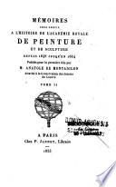 Mémoires pour servir à l'histoire de l'Académie royale de peinture et de sculpture, depuis 1648 jusqu'en 1664
