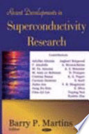 Recent Developments In Superconductivity Research Book PDF