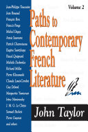 Pdf Paths to Contemporary French Literature Telecharger