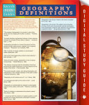 Geography Definitions  Speedy Study Guide