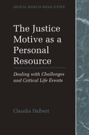 The Justice Motive as a Personal Resource ebook