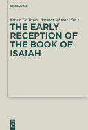 The Early Reception of the Book of Isaiah [Pdf/ePub] eBook