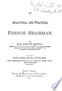 An Analytical and Practical French Grammar Book