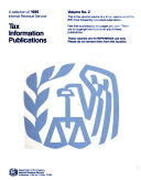 A Selection of ... Internal Revenue Service Tax Information Publications ebook
