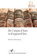 Pdf De l'islam d'hier et d'aujourd'hui Telecharger