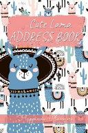 Cute Lama Address Book  Kids Address Book for Girls  Address Book for Kids  Kids Address Book for Boys