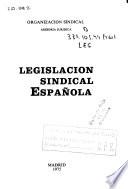Legislación sindical española