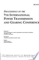 Proceedings of the ... International Power Transmission and Gearing Conference