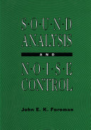 Sound Analysis and Noise Control