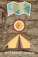 My Camping Journal  Compact Travel Log Book   Wood Grain