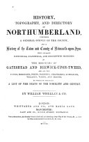 History  Topography  and Directory of Northumberland