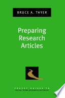 Preparing Research Articles
