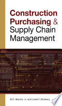 CONSTRUCTION PURCHASING   SUPPLY CHAIN MANAGEMENT