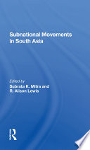 Subnational Movements In South Asia