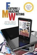 Pdf Feature and Magazine Writing Telecharger