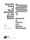 Seventy Years of Rural Sociology in the United States