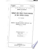 Report on Condition of Woman and Child Wage earners in the United States