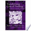 Transforming Critical Thinking Book PDF