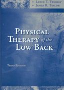 Physical Therapy of the Low Back Book