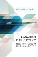 Canadian Public Policy [Pdf/ePub] eBook