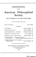 Pdf Proceedings, American Philosophical Society (vol. 113, No. 2, 1969)