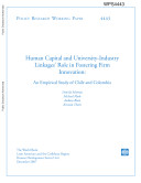 human capital and university  industry linkage s role in fostering firm innovation  an empirical study of chile and colombia
