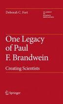 One Legacy of Paul F. Brandwein Pdf/ePub eBook