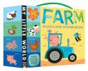 Farm Puzzle and Sticker Book Set