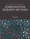 The SAGE Encyclopedia of Communication Research Methods Pdf/ePub eBook