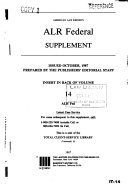 American law reports. alr federal: cases and annotations
