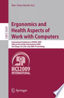 Ergonomics and Health Aspects of Work with Computers Book