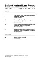 Buffalo Criminal Law Review