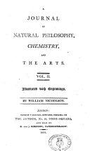 A Journal of Natural Philosophy, Chemistry, and the Arts