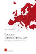 European Federal Criminal Law