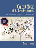Concert Music of the Twentieth Century