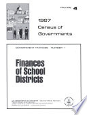 1967 Census Of Governments Government Finances No 1 Finances Of School Districts No 3 Finances Of County Governments