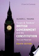 Turpin And Tomkins British Government And The Constitution