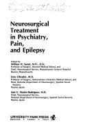 Neurosurgical Treatment in Psychiatry, Pain, and Epilepsy